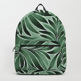 Graceful Leaves In Jade And Marine Green Shades Backpack