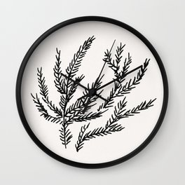Summer Coral Fern Wall Clock