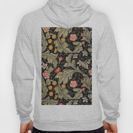 William Morris Laurel Multi-Colored Floral Textile Pattern Sunflower, Aster, Dahlia Hoody