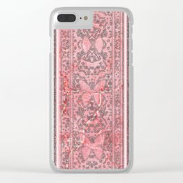Decorative Pink Paper Texture Butterfly Design Clear iPhone Case