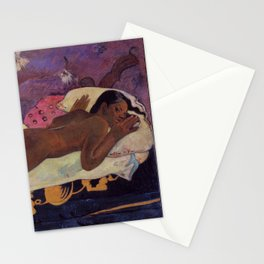 The Spirit of the Dead Keeps Watch - Paul Gauguin Stationery Cards