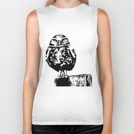 Burrowing Owl Biker Tank