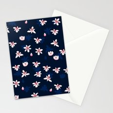 Little Flowers Blues Stationery Cards