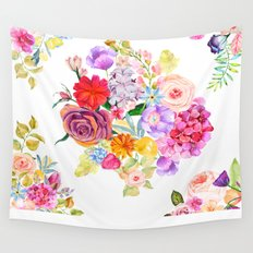 Summer Bouquet with Fruit and Flowers Wall Tapestry