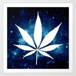 Weed : High Times Blue Galaxy Art Print