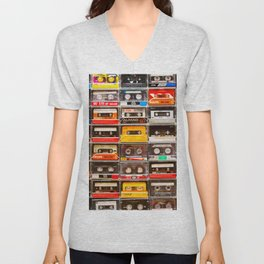 Something Nostalgic V - Music - Global Language #decor #society6 #buyart Unisex V-Neck