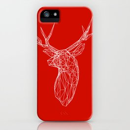 3D Stag Trophey Head Wire Frame iPhone Case