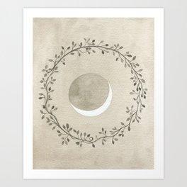 Crescent and Wreath Art Print
