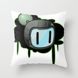 The Green Bomber  Throw Pillow