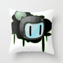 The Green Bomber  Throw Pillow