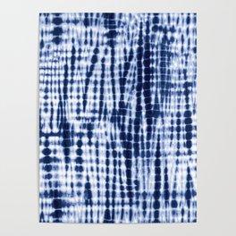 Shibori Tie Dye Pattern Poster