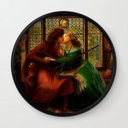 """Dante Gabriel Rossetti """"Paolo and Francesca da Rimini"""" Wall Clock"""
