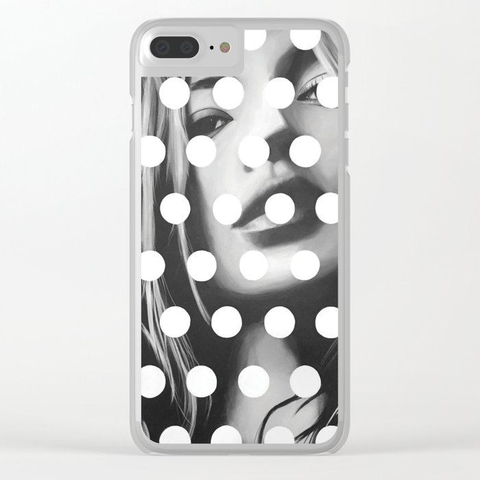 Kate Moss x Dots by Moe Notsu Clear iPhone Case