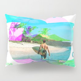 GLITCH NATURE #108: We surfed at the point break off of Lombok island in Indonesia. There is nothing to do at this break besides surf, eat, and sleep. Pillow Sham