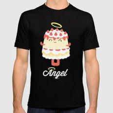 Angel Cake MEDIUM Mens Fitted Tee Black