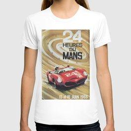 24hs Le Mans, 1963, vintage poster T-shirt