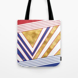 Art Deco Gold Blue Maritime #artdeco #minimal #art #design #kirovair #buyart #decor #home Tote Bag