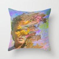 500 days of summer Throw Pillows featuring Summer Days by Tyler Spangler