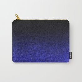 Blue & Black Glitter Gradient Carry-All Pouch