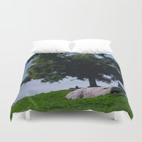 running Duvet Covers featuring running by XfantasyArt