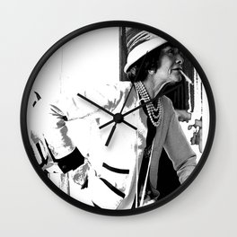 VINTAGE COCO: WHITE SUIT Wall Clock