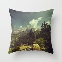 italian Throw Pillows featuring Italian Mountains by Dirk Wuestenhagen Imagery