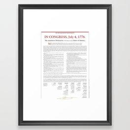 Declaration of Independence Framed Art Print