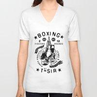 boxing V-neck T-shirts featuring Boxing by T-SIR | Oscar Postigo