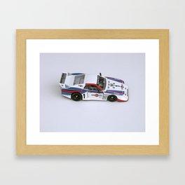 Martini Lancia Slot Car Framed Art Print