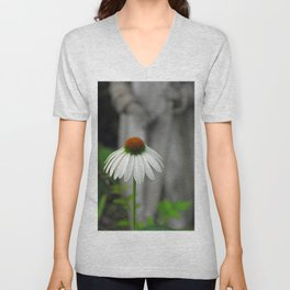 In the Garden with Saint Francis Unisex V-Neck