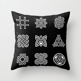Borre Style Ornament IV Throw Pillow