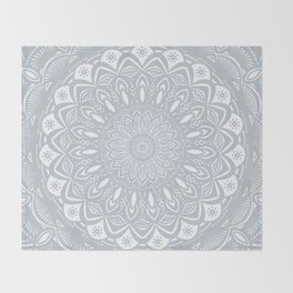 Cool Gray Mandala Simplistic Bold Minimal Minimalistic Throw Blanket