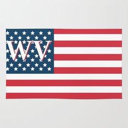 West Virginia American Flag Rug