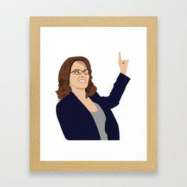 Tina Fey Framed Art Print