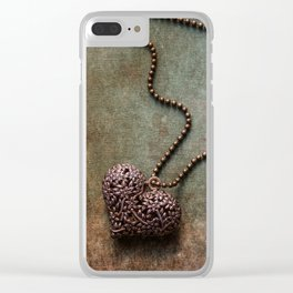 Heart shaped pendant Clear iPhone Case