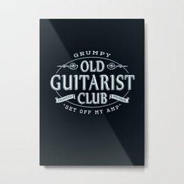 Bass Guitar GUITAR BASS Grumpy Old Guitarist Club Metal Print