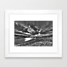 HDR Sunrise - Kamloops, BC Framed Art Print