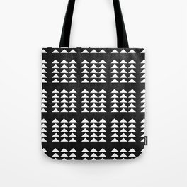 Tribal Triangles in Black and White Tote Bag