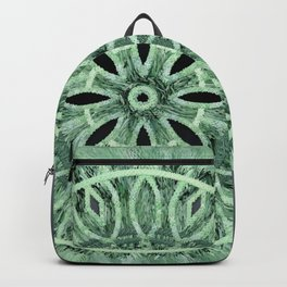 Mint Green 3D Faux Embroidery Backpack