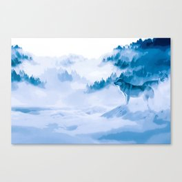 Mountain Wolves Canvas Print
