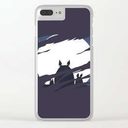 ghibli dark moon Clear iPhone Case
