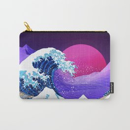 Synthwave Space: The Great Wave off Kanagawa #2 Carry-All Pouch