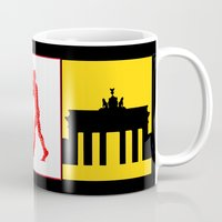 berlin Mugs featuring Berlin by Arts and Herbs