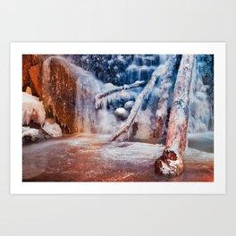 Frozen Avalon Fantasy Falls Art Print