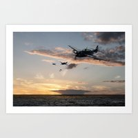 avenger Art Prints featuring Avenger by Airpower Art