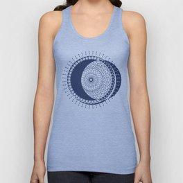 Moon Mandala (Dark Blue) Unisex Tank Top