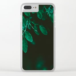 Huckleberry Leaves Clear iPhone Case