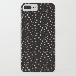 Black & Rose Gold Star Pattern iPhone Case