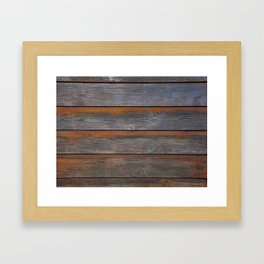 Rustic Wood Panel Boards Aged in Wyoming Framed Art Print
