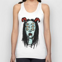 supreme Tank Tops featuring succubus supreme by Creaturetown